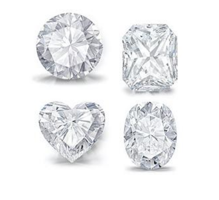 Diamonds in different shapes