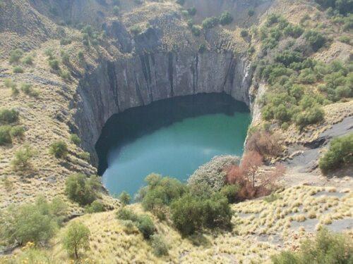 Die ehemalige Big Hole Diamantenmine