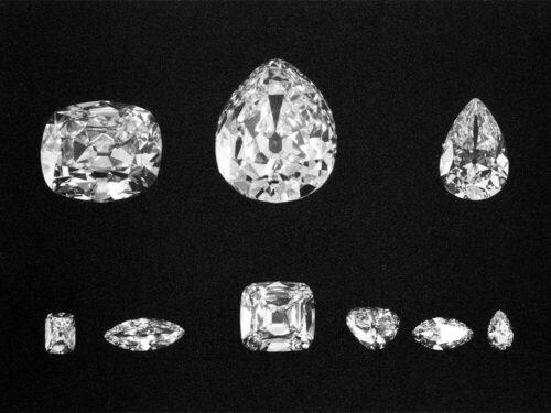 Die grossten Teile des Cullinan Diamanten Cullinan I IX