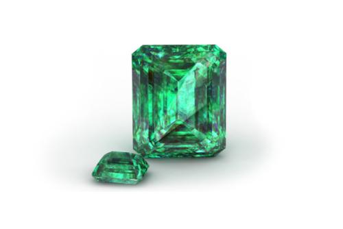 Smaragd mit Smaragdschliff