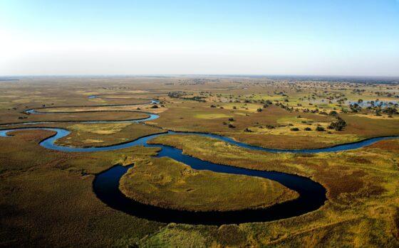 Okavango rivier in Shakawe Botswana